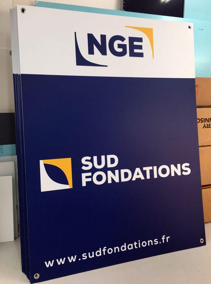 Impression de plaques Aquilux pour SUD FONDATIONS