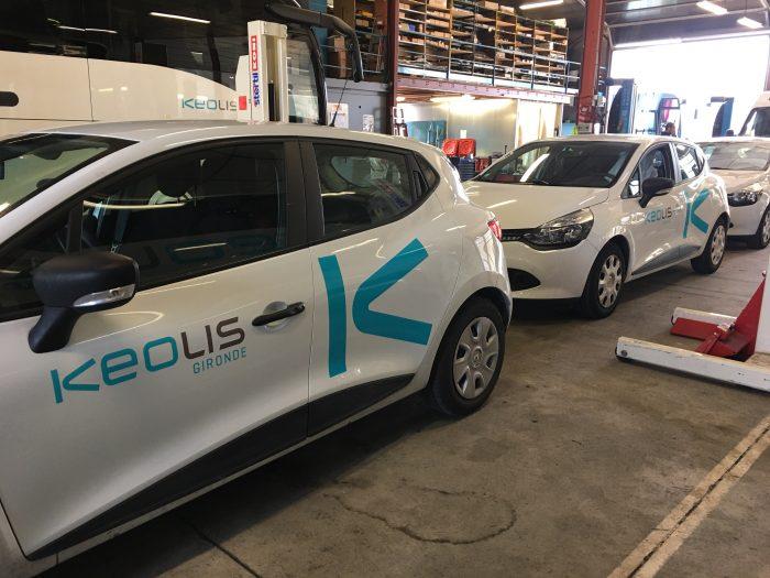 Covering de la flotte de véhicules KEOLIS